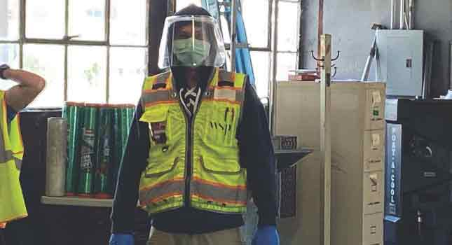 COVID19 warehouse safety gear photo