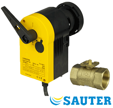 Sauter VKR025F320-UU Valve with AKM115SF132 Actuator
